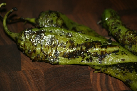 Roasted Hatch Green Chilies
