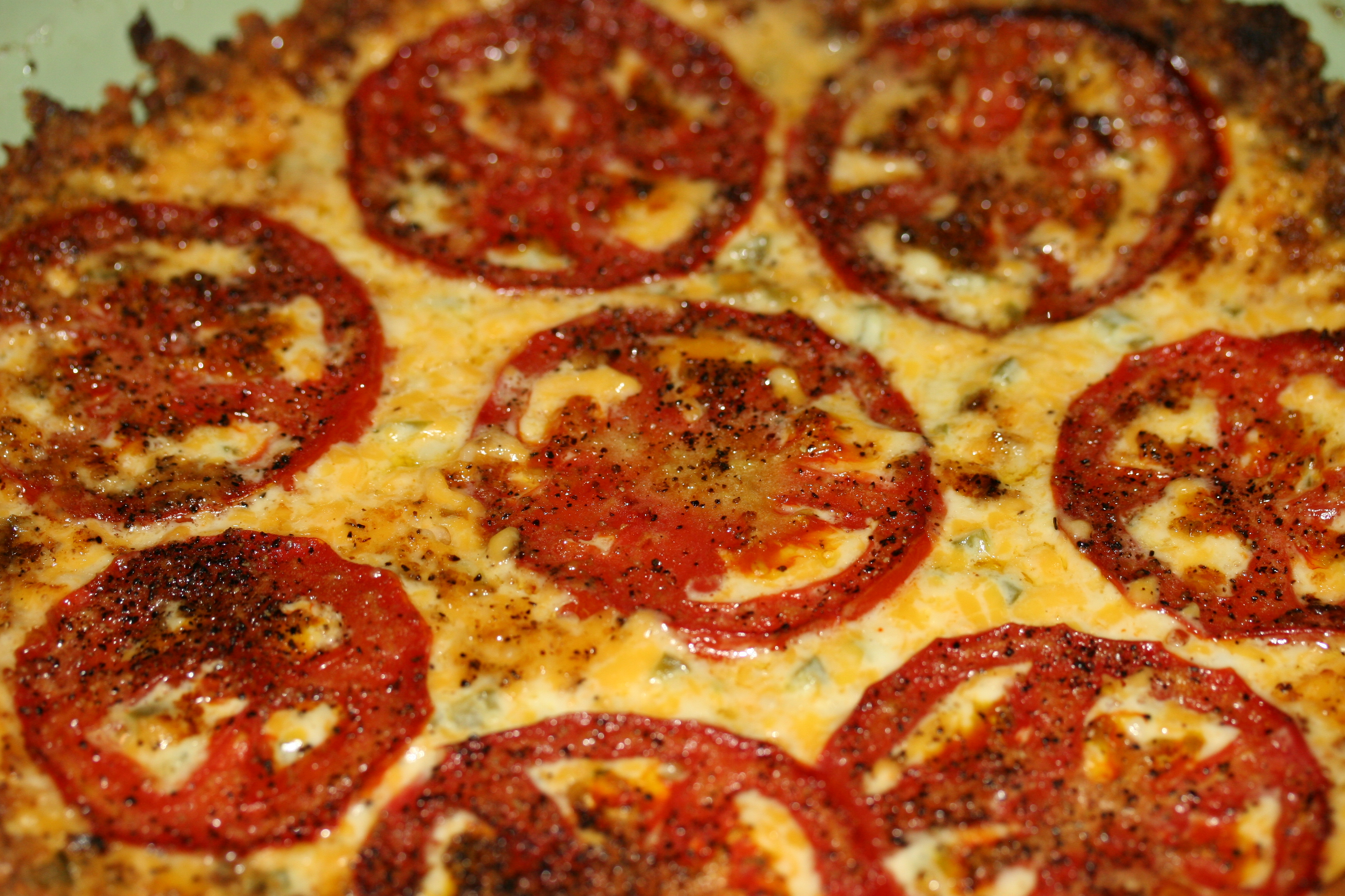 Tomato Cheddar Pie with Bacon Crust | Whiskey & Wry