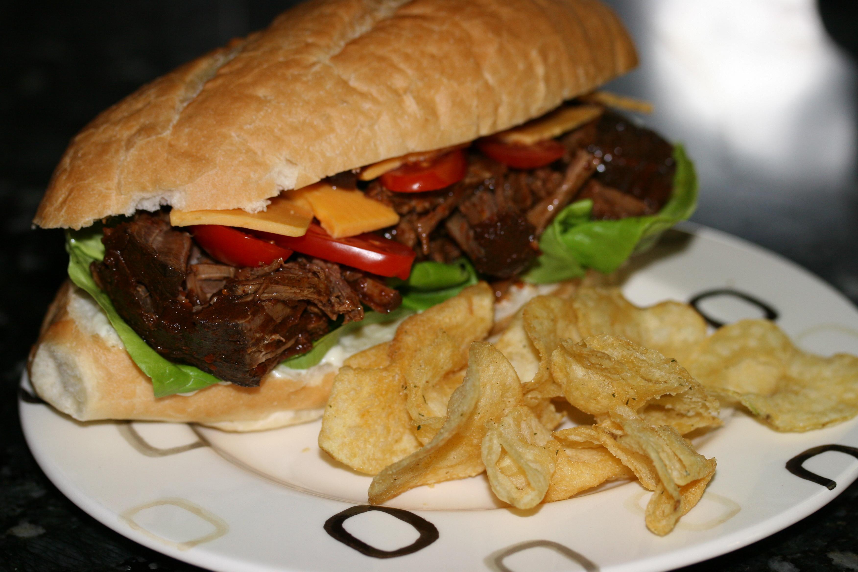 Chili Roast Beef Sandwich
