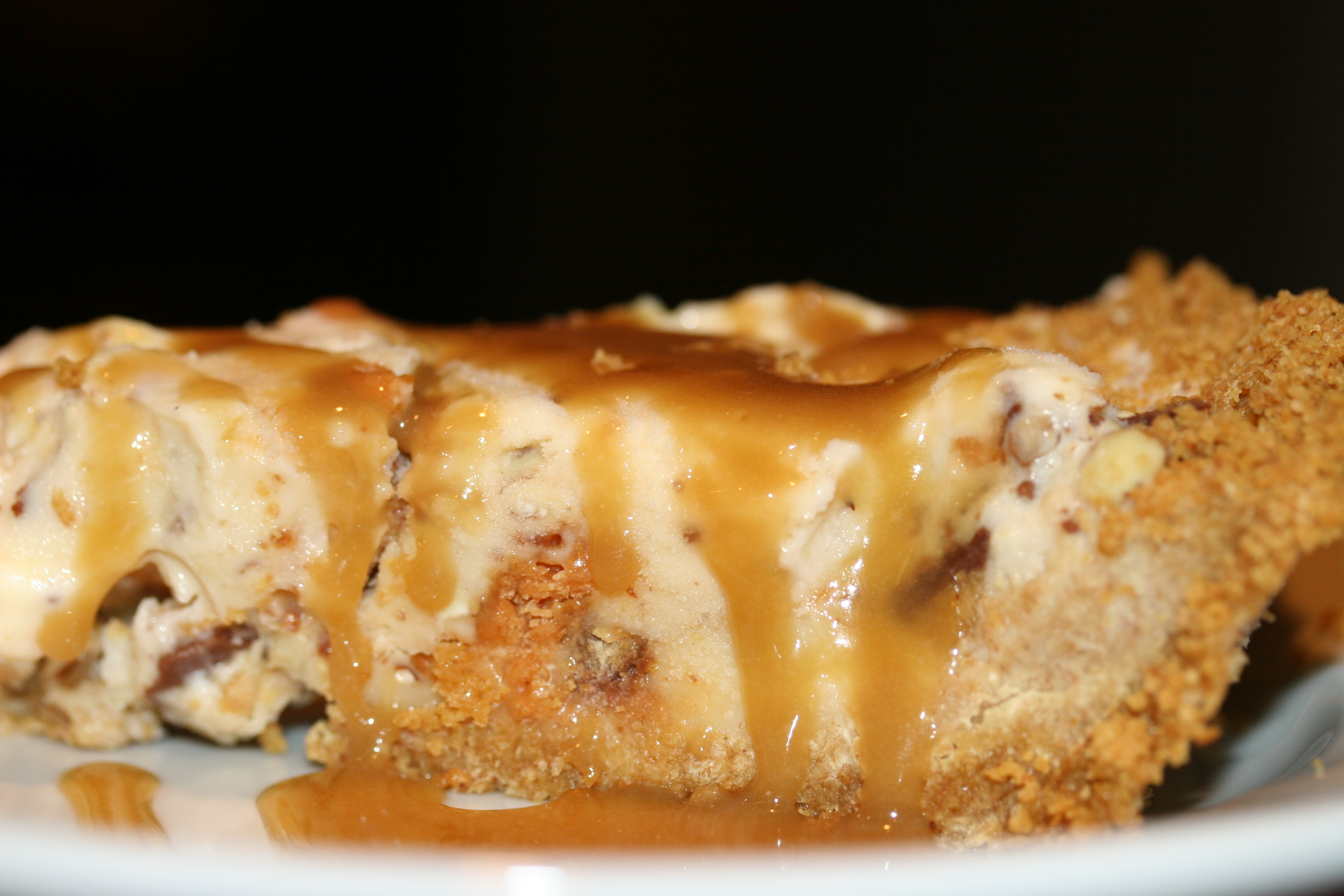 Peanut Butter-finger Ice Cream Pie with Caramel Sauce   Whiskey & Wry